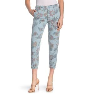 NWT MOTHER The No Zip Floral Print Pants Women's